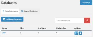 Database 목록 조회 페이지